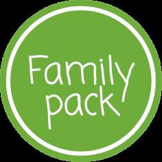 Etiketten @35mm groen-wit 'Family pack'