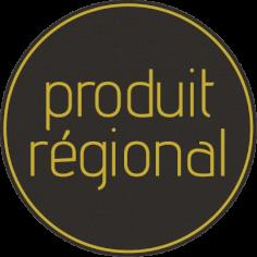 Etiketten @35mm zwart-geel 'Produit Régional'