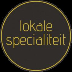 Etiketten @35mm zwart-geel 'lokale specialiteit'