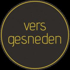 Etiketten @35mm zwart-geel 'Vers gesneden'