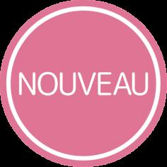Etiketten @35mm roze-wit 'Nouveau'