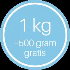 étiquettes @35mm bleu-blanc '1 kg + 500 gram gratis'