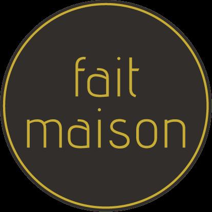Etiketten @35mm zwart-geel 'FAIT MAISON'
