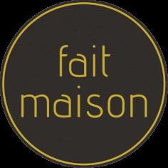 étiquettes @35mm noir-jaune 'FAIT MAISON'