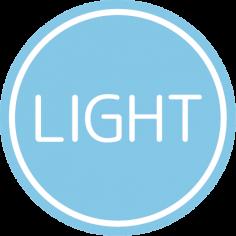 Etiketten @35mm blauw-wit 'Light'