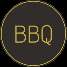 Etiketten @35mm zwart-geel 'BBQ'