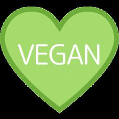 Etiketten @35mm groen-wit hart 'vegan'