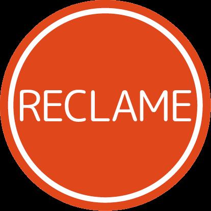 Etiketten @35mm oranje-wit 'reclame'