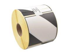 Gevarenetiket LQ papier 100x100m wit met zwarte bedrukking