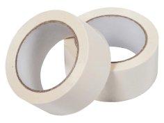 Tape PVC 48mmx66mtr 55my wit kern 76mm, solvent belijming, low noise