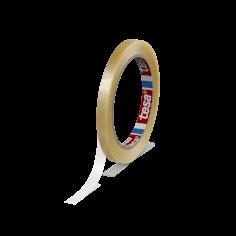 Vinyltape PVC 9mmx66mtr 59my transparant solvent belijming, tesa 4204