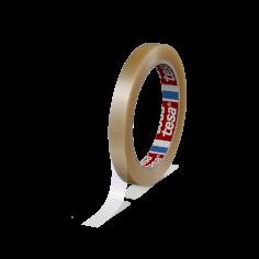 Vinyltape PVC 12mmx66mtr 59my transparant solvent belijming, tesa 4204