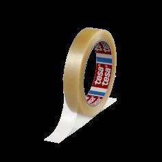Vinyltape PVC 19mmx66mtr 59my transparant solvent belijming, tesa 4204