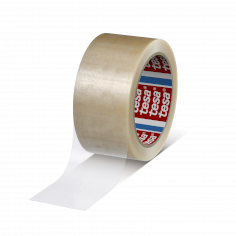 Tape PVC 50mmx66mtr 49my transparant solvent belijming, tesa 4120