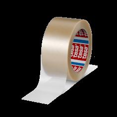 Tape PVC 50mmx66mtr 65my transparant structuur, solvent belijming, tesa 4100