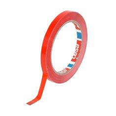 Vinyltape PVC 9mmx66mtr 59my rood, solvent belijming, tesa 62204