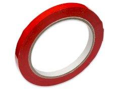 Vinyltape PVC 9mmx66mtr 39my rood, solvent belijming