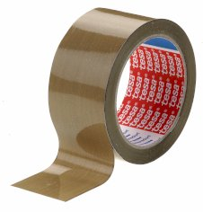 Tape PP 50mmx66mtr bruin 46my solvent belijming, tesa 4089