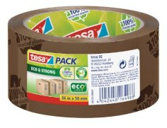 Tape PP 50mmx66m eco&strong TESA bruin 100% gerecycled