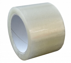 Tape PP530 75mmx66mtr transparant 56my, solvent