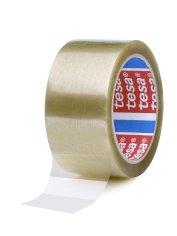 Tape PP 38mmx66mtr 46my transparant solvent belijming, tesa 4089