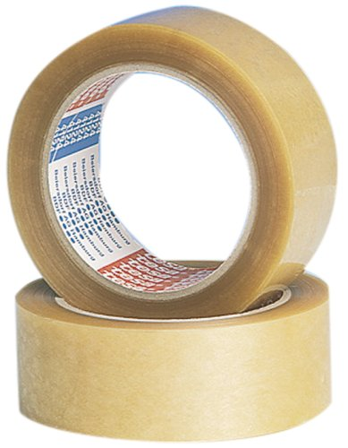 Tape PP 50mmx66mtr 45my transparant, acryl belijming, tesa 64014