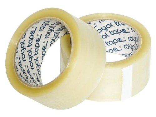 Tape PP 48mmx1000mtr 28my transparant, hotmelt
