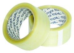Tape PP 48mmx66mtr hotmelt transparant, royal tape, 45my