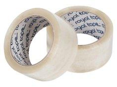 Tape PP Royal Tack 48mmx66mtr 25my, transparant, solvent belijming