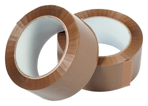 Tape PP 48mmx66mtr 28my bruin low noise, acryl
