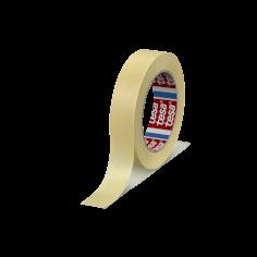 Tape crepe 25mmx50mtr 130my chamois, solvent belijming, tesa 4323