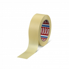 Tape crepe Tesa 38mmx50mtr 130my chamois, rubber belijming