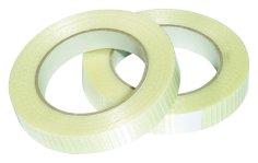 Filamenttape 25mmx50mtr hotmelt transparant, verstrekt in lengte