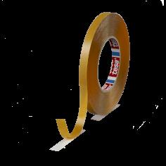 Dubbelzijdig tape 12mmx50mtr 220my transparant tackified belijming, tesa 51970
