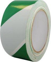 Vloermarkeringstape 50mmx33mtr groen/wit