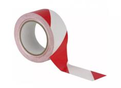Vloermarkeringstape 50mmx33mtr rood/wit