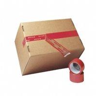 3 Rol. Sicherheitsklebeband PP 50 mm x 50 m rot Naturkautschukkleber