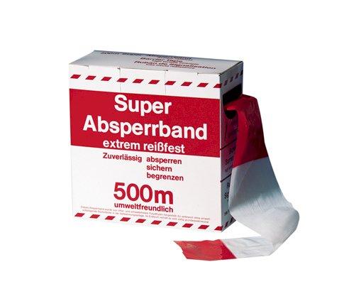 Markeringslint 75mm rood/wit in dispenserdoos