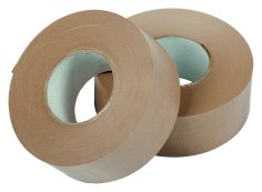 Plakband papier 70mmx150mtr 109grs bruin, gegomd bu, lengte versterk