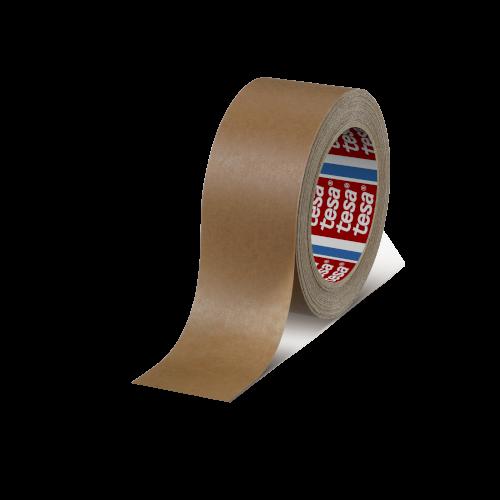 Tape papier 50mmx50mtr 107my bruin, hotmelt belijming, tesa 4313