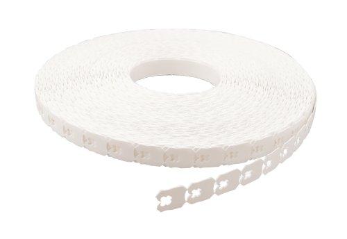 Clipps K-59 zaksluiter polystyrene, wit 9010, dikte 0.8mm