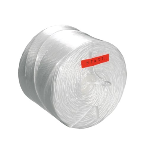 Spoel à 2 kg paktouw 3/1500mtr wit artisplit, kern 100mm