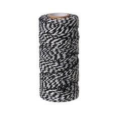 A 500gr katoenkoord zwart/wit spoel code nr.32