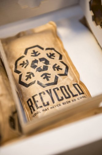 Koelelement Recycold Cool Pack bruin 13x15x2cm 200ML