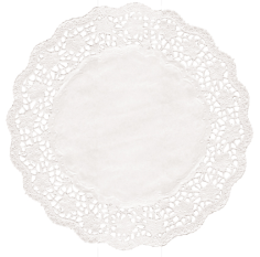 Taartrand rond @25.5cm wit blossom