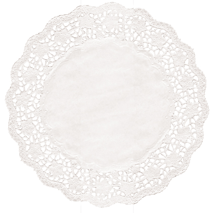 Taartrand rond @32cm wit blossom