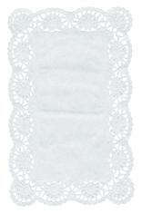 Taartrand rechthoek 30.4x40.6cm wit blossom