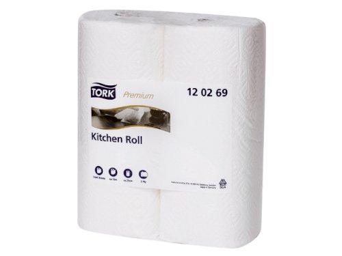 Tork keukenrol 2-lgs wit 15.36mtrx23cm decor Premium
