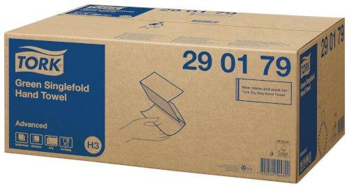 Handdoek tork advanced H3 2-lgs 0,23mtrx25cm groen zig-zag vouw