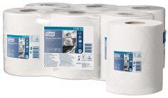 Papier d'essuyage 2 couche blanc 23,5cm bobine à dévidage central Tork Wiping plus M2